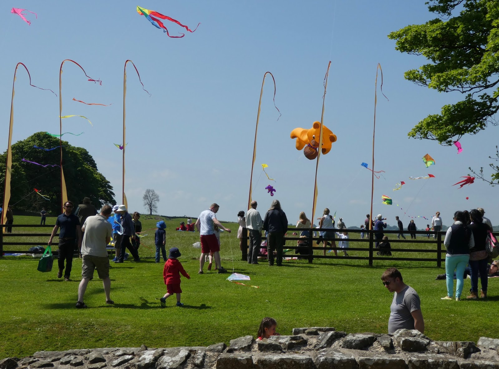 A Guide to The Best Family Days Out in the North East including Hadrian's Wall Kite Festival