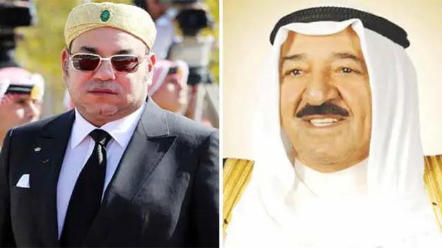 الملك محمد السادس يعزّي أمير الكويت على إثر وفاة شقيقته