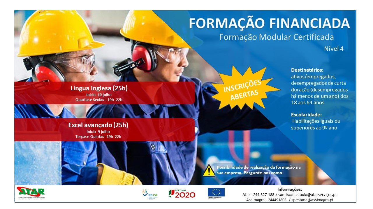 Formação modular gratuita em Leiria (Inglês e Excel)