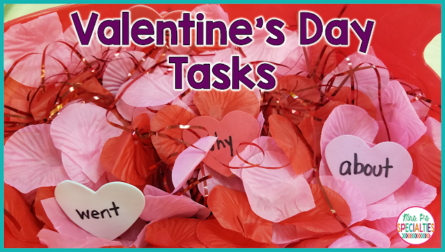 Adding theme tasks into our students' schedule can keep learning exciting, but it can make you go broke if you aren't careful! Here are 8 different Valentine's Day tasks that I made from $8 worth of materials from the dollar store. Best part... I still have materials left over to use in crafts or to personalize the tasks.