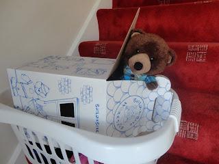 Tom in a Build A Bear Workshop Box