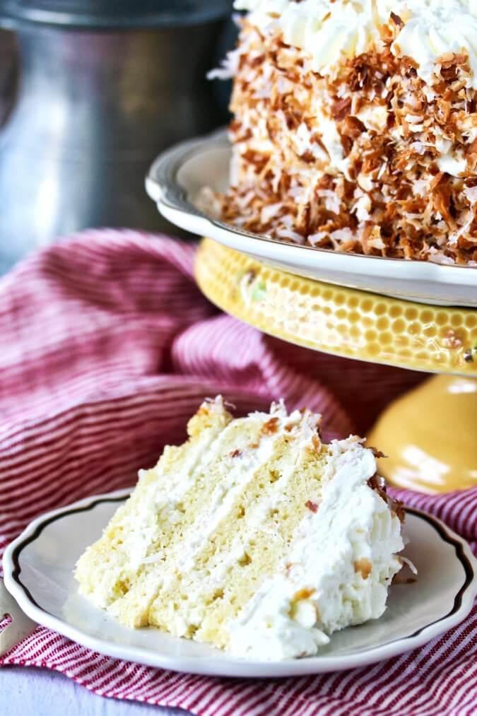 Italian Coconut Crème Cake