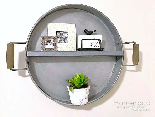 DIY Galvanized Steel Farmhouse Wall Shelf