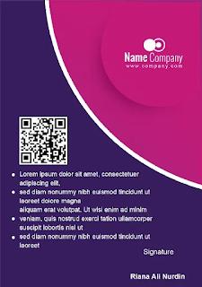 ID Card Karyawan Microsoft Word
