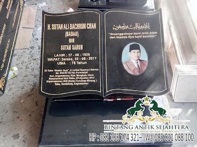Batu Nisan Makam Granit, Nisan Model Buku Granit