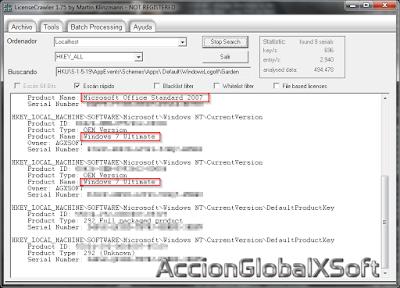 Recupera seriales de programas o del sistema operativo almacenados en un PC