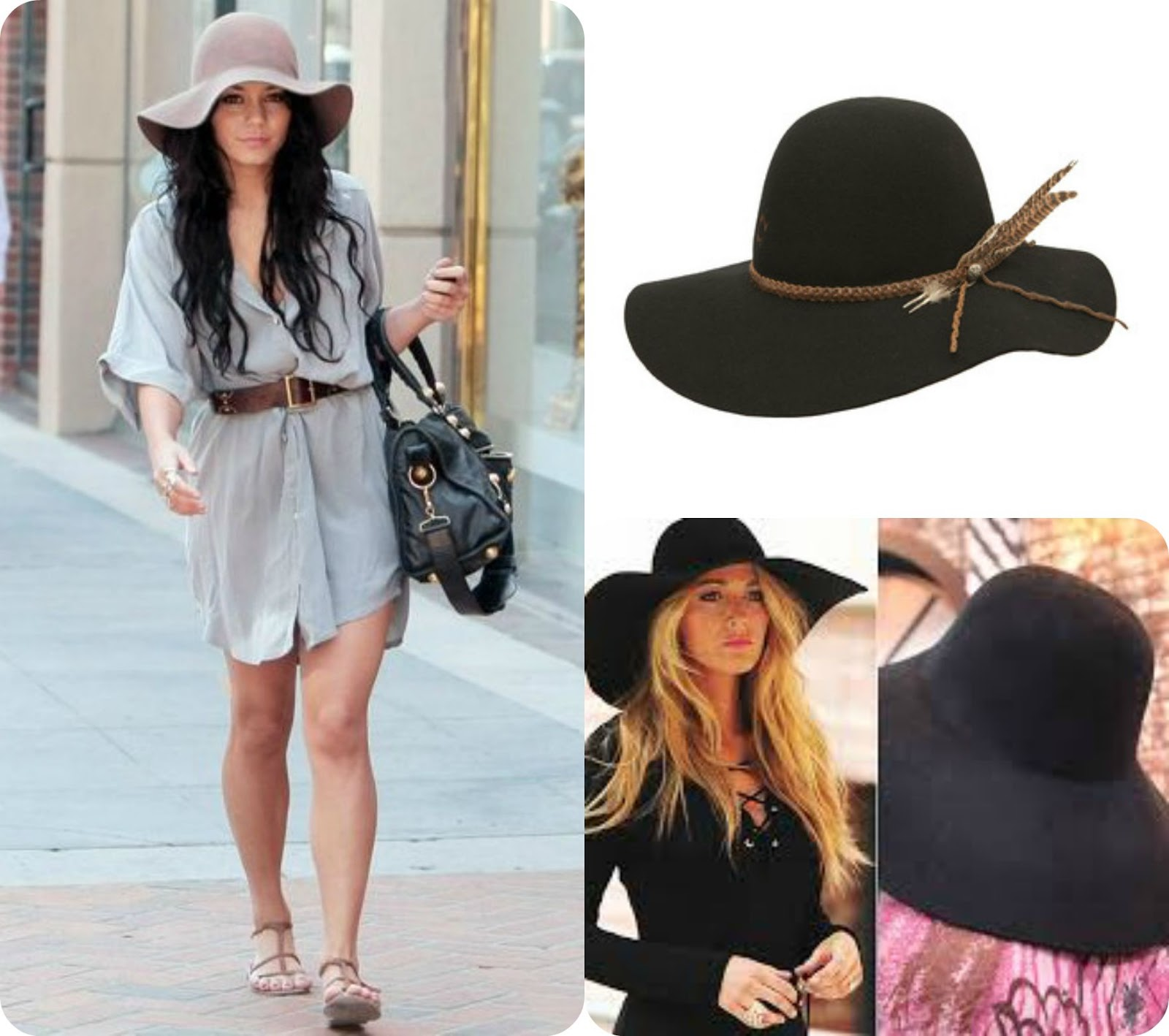 93d485ec1fa208 We love this chic trend at Giddy Up Glamour! Blake Lively and Venessa  Huudgens are our twins this Tuesday; rocking their floppy hats.