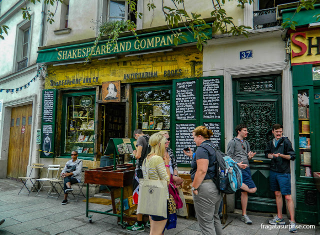 Paris, Livraria Shakespeare and Company