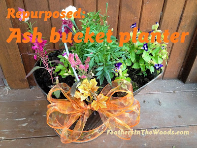 Ash bucket flower planter ideas