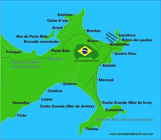mapa de bombinhas en auto a brasil
