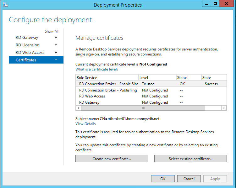 Random notes of a sysadmin windows 2012 r2 rds configure rds rds deployment properties management console yadclub Images