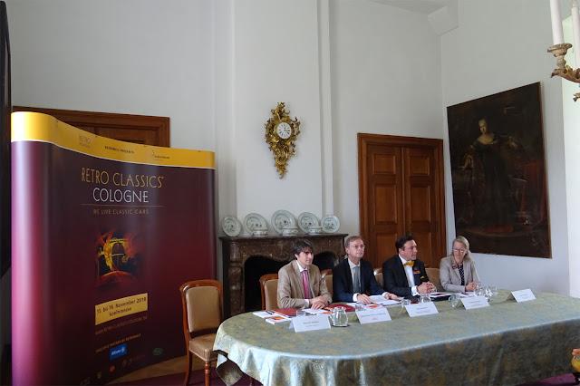 Auftakt Presse Konferenz zur Retro Classics Colgone auf Schloss Merode