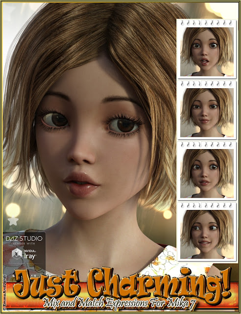 Just Charming Mix and Match Expressions for Mika 7 and Genesis 3 Female