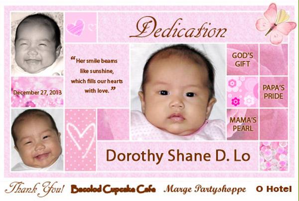 baby christenings ideas bacolod- tarpaulin backdrop