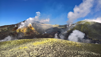 View of main crater of Mount Etna