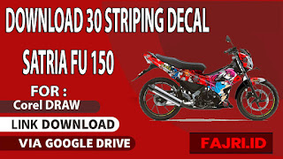 Download 30 Striping Decal Satria Fu 150 Gratis