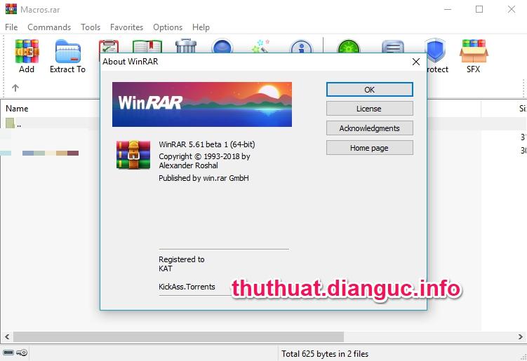Download WinRAR 32bit 64bit 5.61 Beta 1 Mới Nhất Full Key Bản Quyền