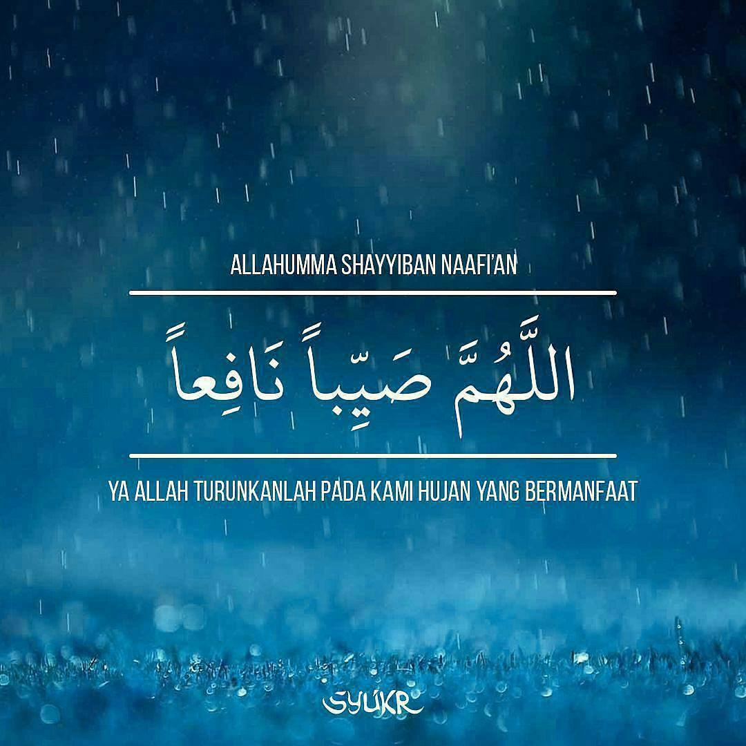 Doa Ketika Hujan Turun