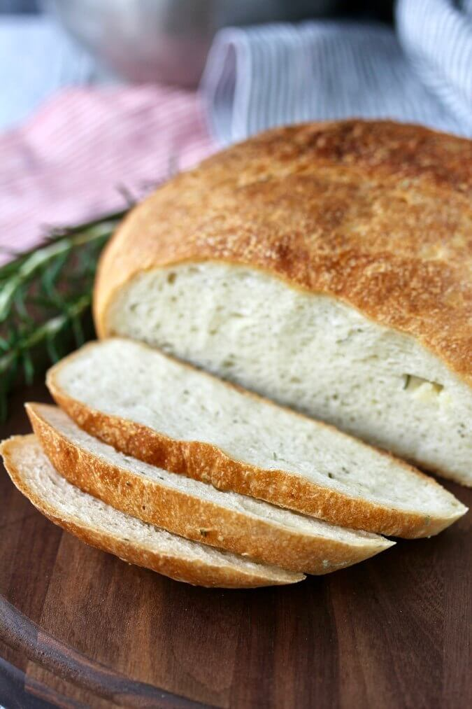 Potato Rosemary Bread with Roasted Garlic