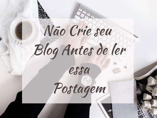 pré criação de blog