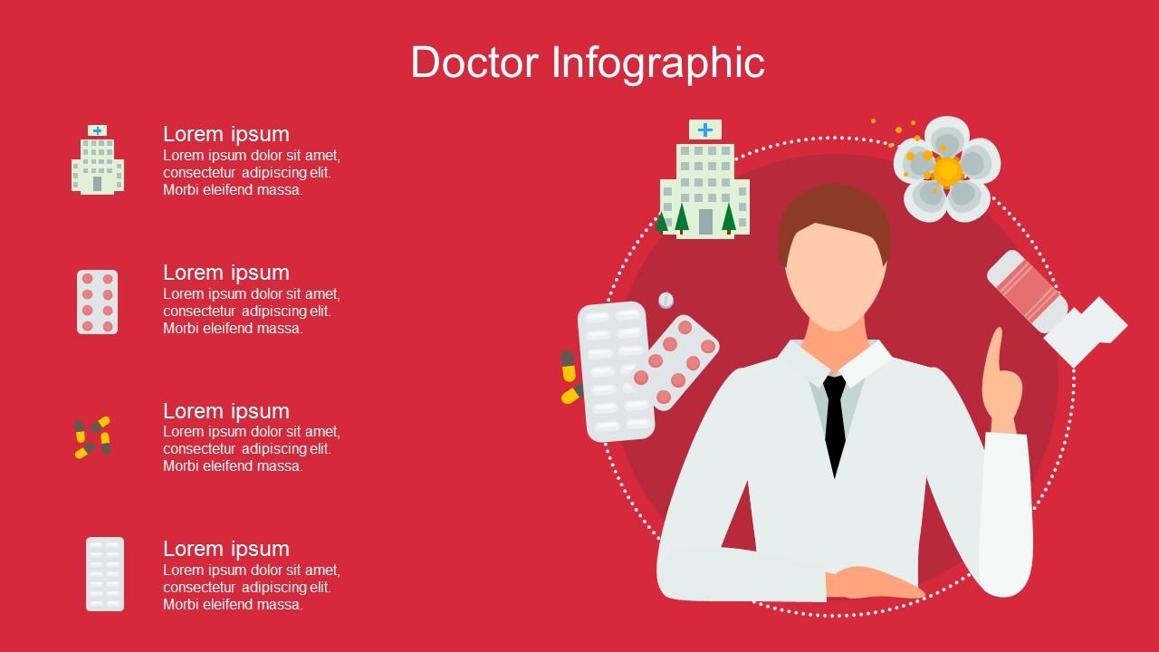 عرض بوربوينت انفوجرافيك للأدوية