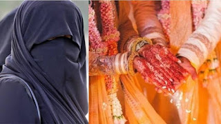 After the Muslim woman married the Hindu youth, the family members of the Muslim woman attacked her.