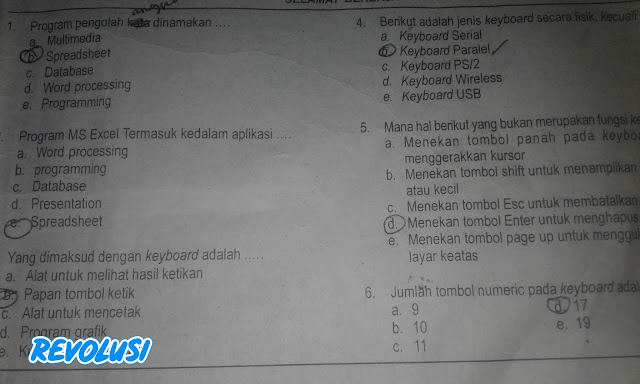 Soal UAS KKPI Kelas X Beserta Jawabannya (SMA/SMK PG)