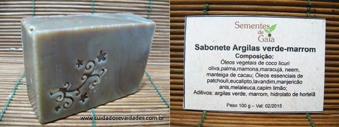 Sabonete Argila Verde Marrom