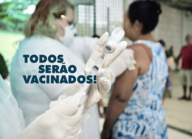 Senador Canedo: Nesta Quinta e sexta não tem vacinação, que retorna na Segunda-feira