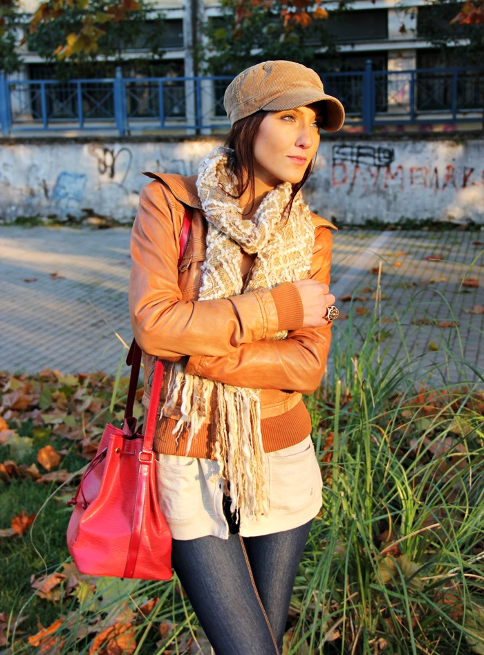 tan leather jacket sporty looks and outfits