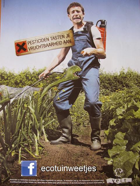 onkruidverdelger of pesticiden op groenten zijn ongezond