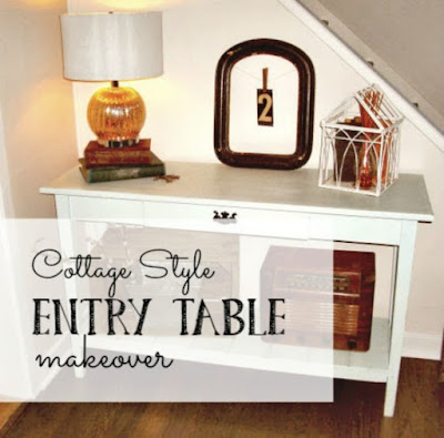 Cottage Style Entry Table Makeover