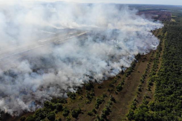 Bombeiros monitoram incêndios que atingem Chapada e Sul da Bahia