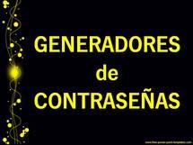 GENERADORES de CONTRASEÑAS...