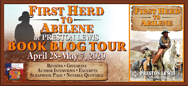 First Herd to Abilene book blog tour promotion banner