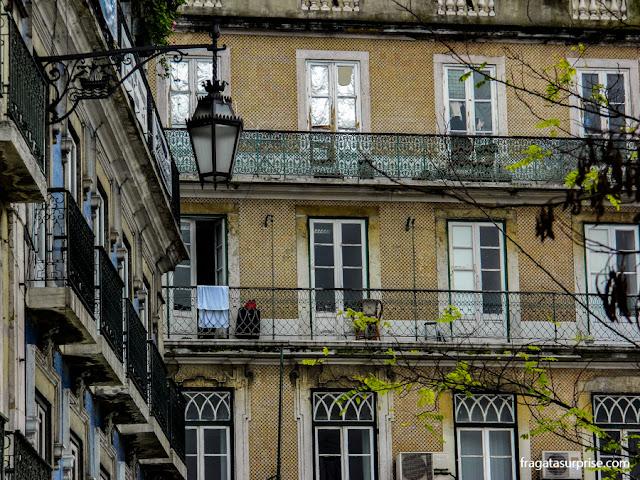 Casarões próximos à Praça dos Restauradores, Lisboa
