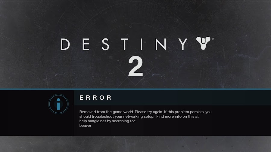 destiny 2 beaver network connection errors fix bungie pc steam free to play online multiplayer first person shooter