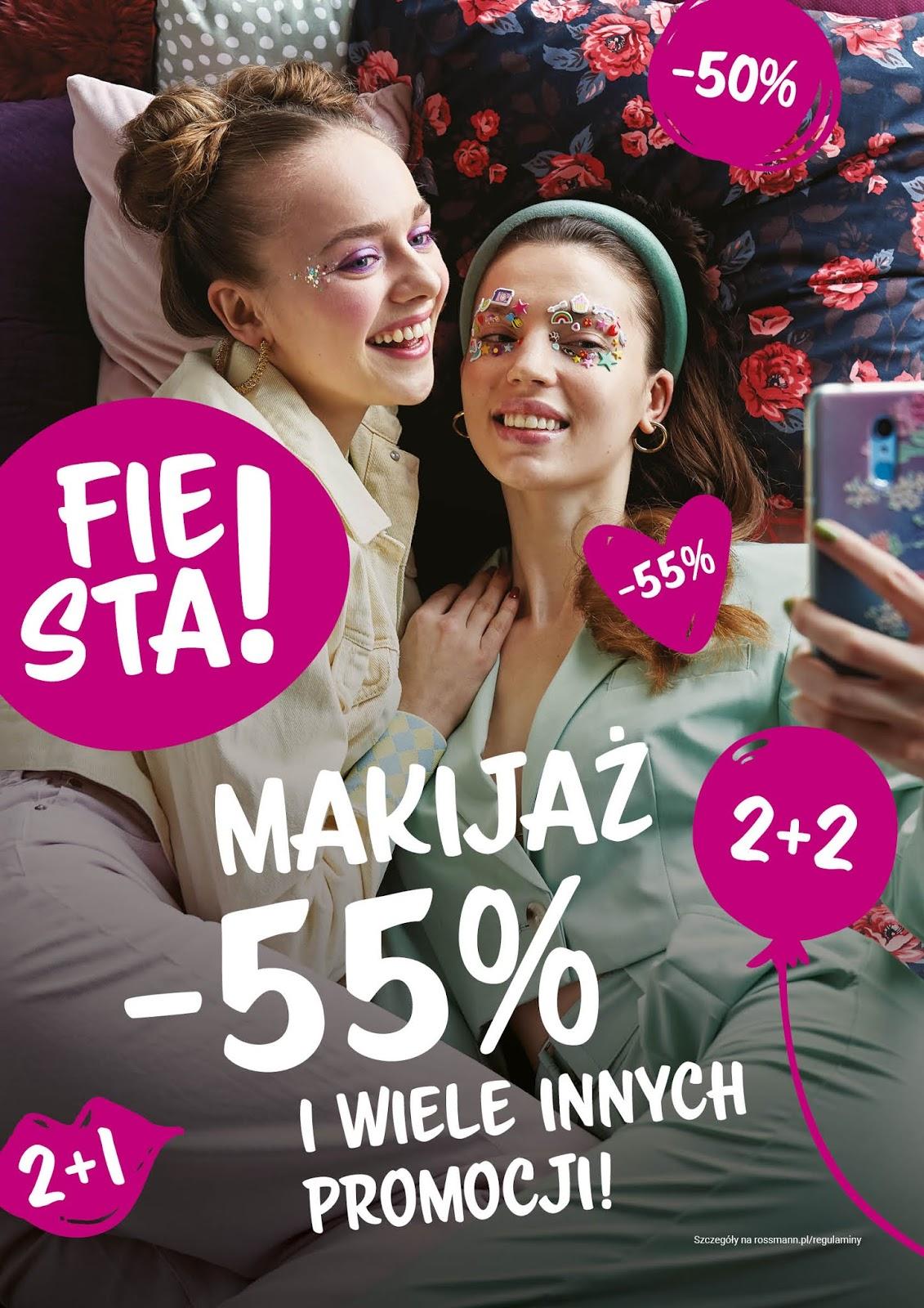 Rossmann -55% na kosmetyki do makijażu maj 2020 Promocyjna Fiesta