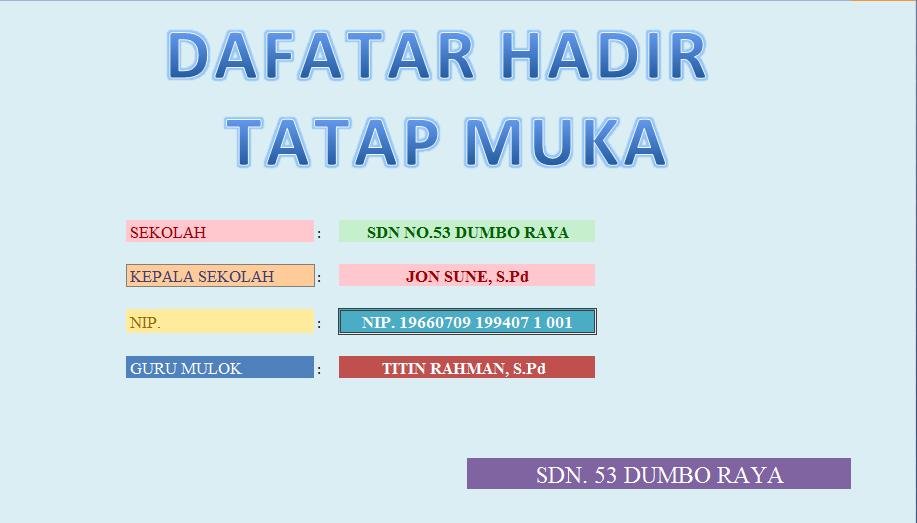 Download Aplikasi Absen Tatap Muka Guru Mulok 2018