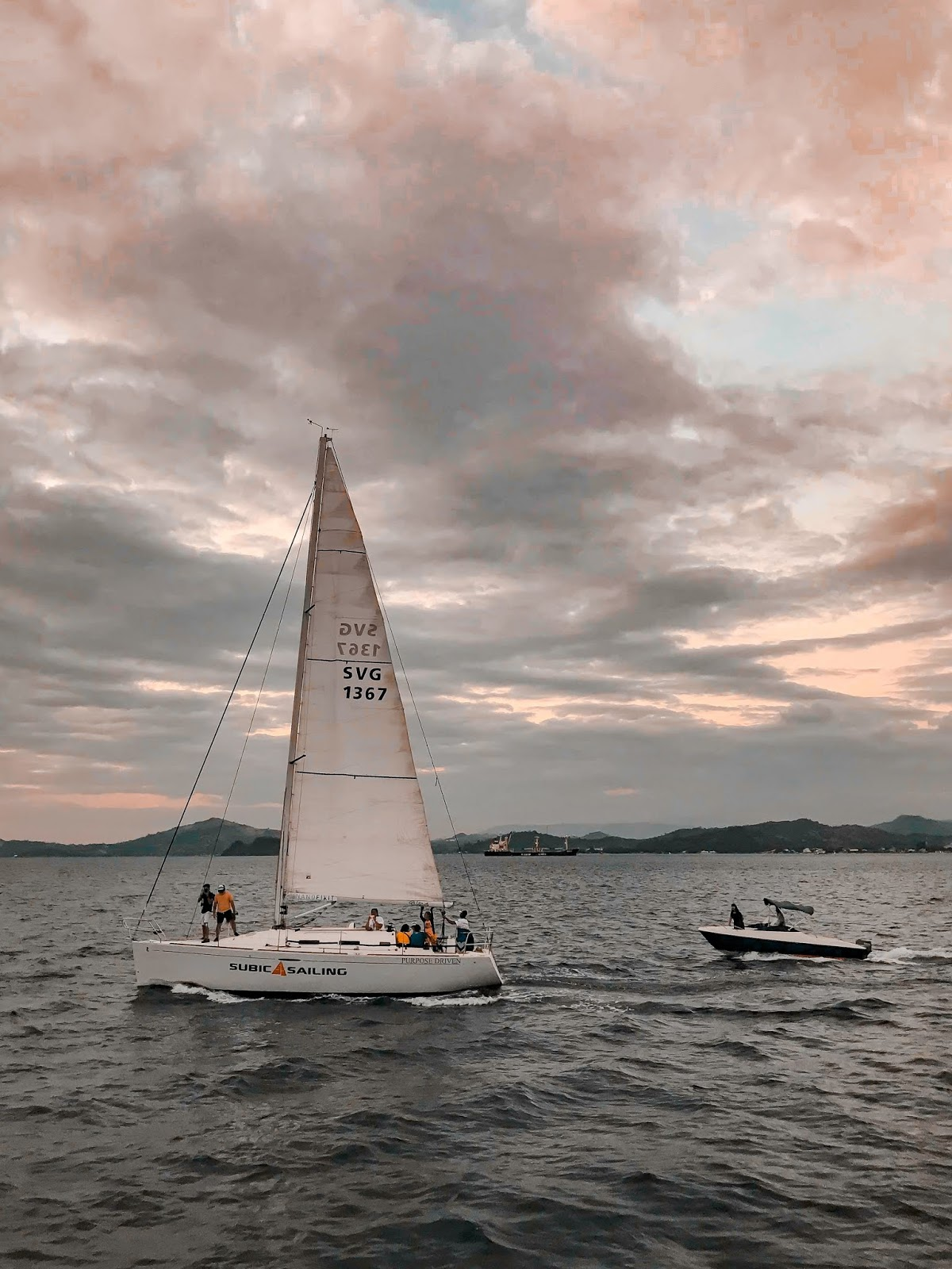 Sunset sailing at Subic Bay Freeport