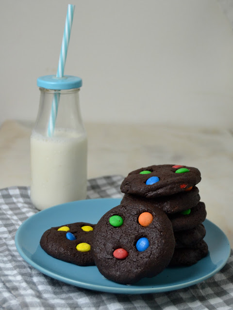 Cookies de chocolate con MM`s