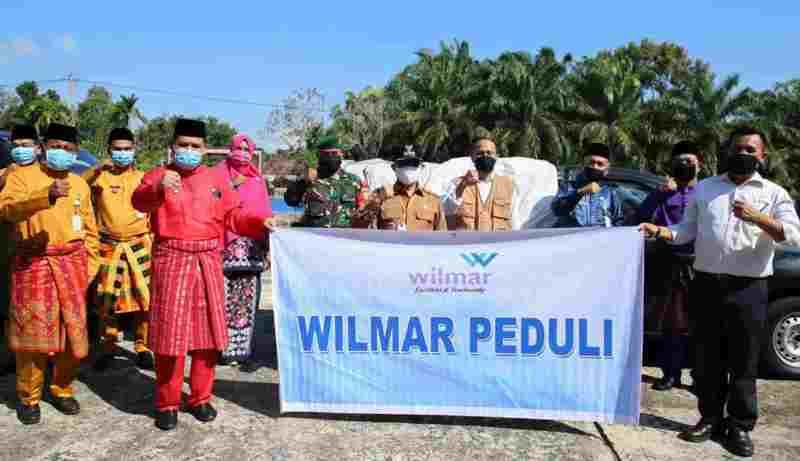 PT Wilmar Beri Bantuan 832 Paket Sembako pada Pemko Dumai