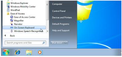 Cara Menggunakan Keyboard di Layar pada Windows 7, 8, dan 10 , Begini caranya