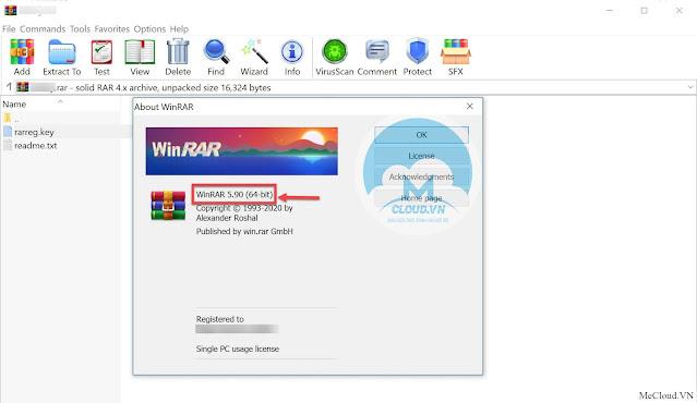 Phần mềm nén và giải nén WinRAR 5.91 Final + Key bản quyền