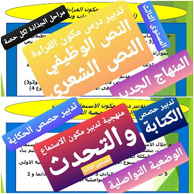 منهجية تدبير دروس مكونات اللغة العربية المستوى الثالث