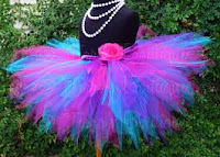 designer blue and pink tutu