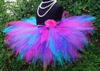 designer blue and pink tutu
