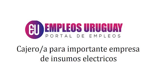 Cajero/apara importante empresa de insumos eléctricos