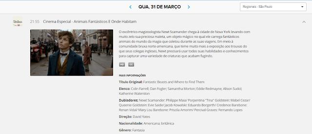 Rede Globo exibirá 'Animais Fantásticos' amanhã! Mas qual? | Ordem da Fênix Brasileira