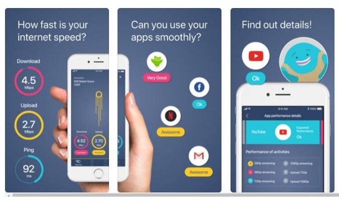 Aplikasi Internet Speed Test Terbaik tuk iOS - Meteor
